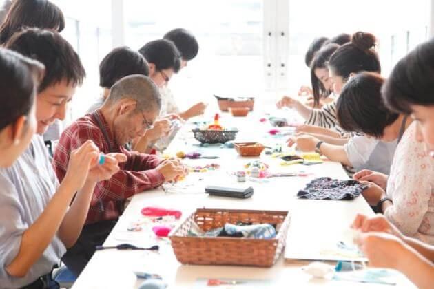 sing a sewing 実演&ワークショップ Photo: Yukiko Koshima